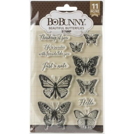 BoBunny Clear Stamps 4X6 - Beautiful Butterfly