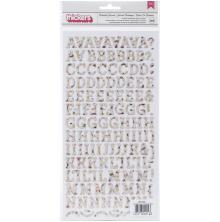 BoBunny Botanical Journal Thickers Stickers 5.5X11 226/Pkg - Alpha