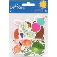Pebbles Vinyl Stickers 12/Pkg - Sun & Fun