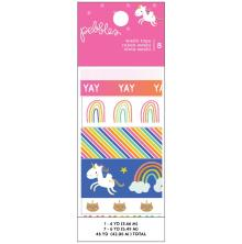 Pebbles Washi Tape 8/Pkg - Live Life Happy
