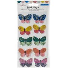 Maggie Holmes Layered Stickers 10/Pkg - Sweet Story Butterflies