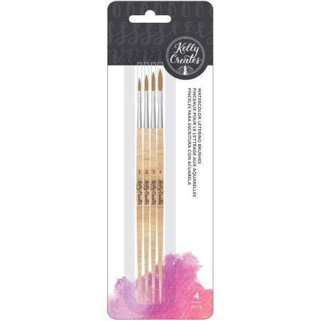 Kelly Creates Round Watercolor Set 4/Pkg - Round Brush