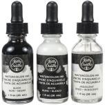 Kelly Creates Liquid Watercolor Set 3/Pkg - Black, White & Iridescent