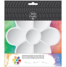 Kelly Creates Plastic Palette W/Pipettes 4/Pkg