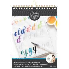 Kelly Creates Watercolor Brush Lettering Workbook 8.5X11 - Script Lettering