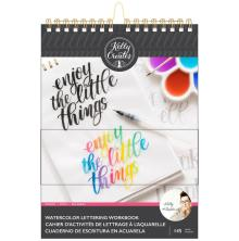 Kelly Creates Watercolor Brush Lettering Workbook 8.5X11 - Words