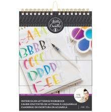 Kelly Creates Watercolor Brush Lettering Workbook 8.5X11 - Block Lettering