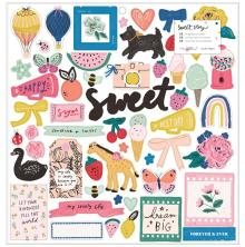 Maggie Holmes Chipboard Stickers 55/Pkg - Sweet Story