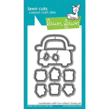 Lawn Fawn Custom Craft Die - Car Critters