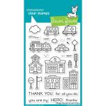 Lawn Fawn Clear Stamps 4X6 - Village Heroes