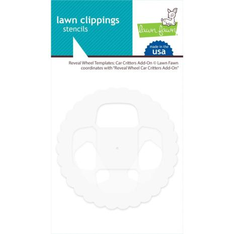 Lawn Fawn Clippings Stencils Reveal Wheel - Car Critters Add-On