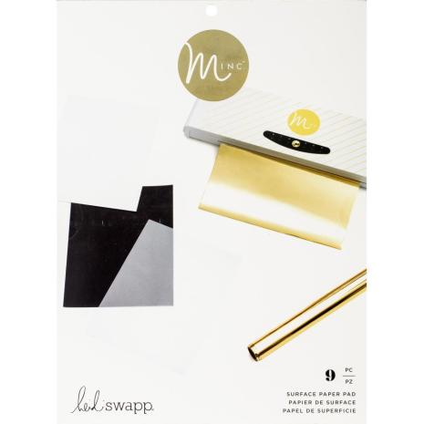 Heidi Swapp Minc Surface Pad 8.5X11 9/Pkg - Assorted