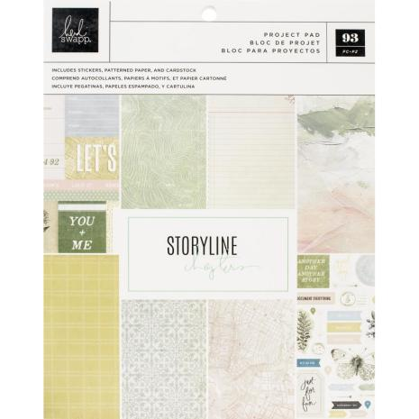 Heidi Swapp Storyline Chapters Project Pad 7.5X9.5 - The Scrapbooker