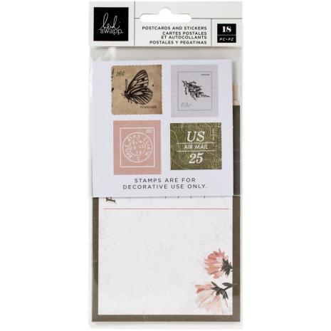 Heidi Swapp Postcards & Stamps 18/Pkg - Storyline Chapters