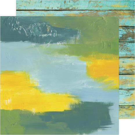 Heidi Swapp Art Walk Cardstock 12X12 - Water Walk