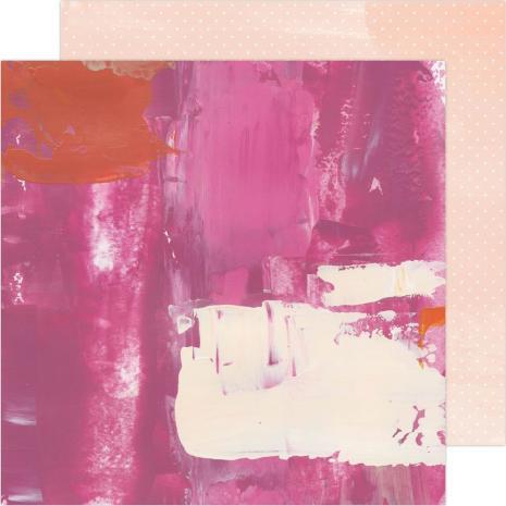 Heidi Swapp Art Walk Cardstock 12X12 - Pinks