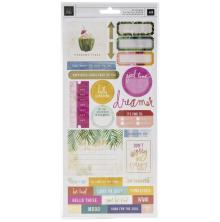 Heidi Swapp Cardstock Stickers 43/Pkg - Art Walk
