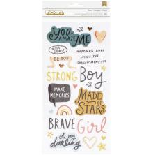 Crate Paper Magical Forest Thickers Stickers 5.5X11 58/Pkg - Brave Phrase
