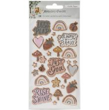 Crate Paper Puffy Stickers 28/Pkg - Magical Forest