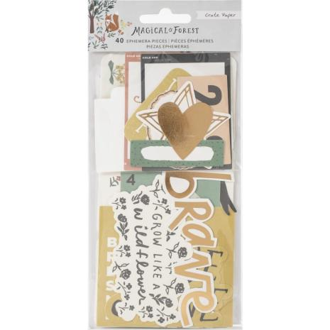 Crate Paper Ephemera Die-Cuts 40/Pkg - Magical Forest