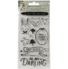 Crate Paper Acrylic Clear Stamps 15/Pkg - Magical Forest