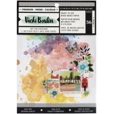 Vicki Boutin Mixed Media Backgrounds Paper 6X8 36/Pkg - Lets Wander