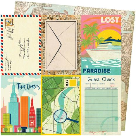 Vicki Boutin Lets Wander Double-Sided Cardstock 12X12 - Lost In Paradise