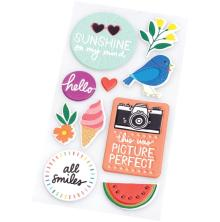 Amy Tangerine Embossed Puffy Stickers 10/Pkg - Picnic In The Park