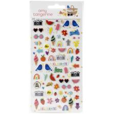 Amy Tangerine Mini Puffy Stickers 77/Pkg - Picnic In The Park