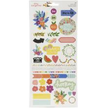 Amy Tangerine Cardstock Stickers 77/Pkg - Picnic In The Park