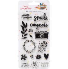 Amy Tangerine Acrylic Stamps 16/Pkg - Picnic In The Park