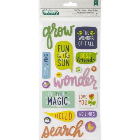 Shimelle Thickers Stickers 5.5X11 31/Pkg - Never Grow Up Phrase