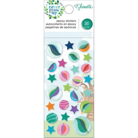 Shimelle Epoxy Stickers 26/Pkg - Never Grow Up
