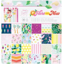 Dear Lizzy Single-Sided Paper Pad 12X12 48/Pkg - Here & Now