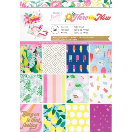 Dear Lizzy Single-Sided Paper Pad 6X8 36/Pkg - Here & Now