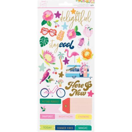 Dear Lizzy Cardstock Stickers 69/Pkg - Here & Now