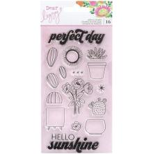 Dear Lizzy Acrylic Stamps 16/Pkg - Here & Now