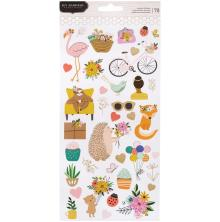 Jen Hadfield Cardstock Stickers 6X12 78/Pkg - Hey, Hello