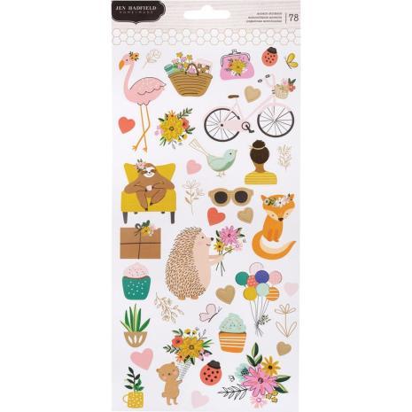 Jen Hadfield Cardstock Stickers 6X12 78/Pkg - Hey, Hello
