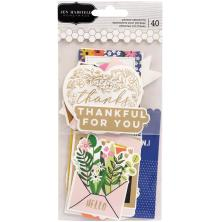 Jen Hadfield Ephemera Cardstock Die-Cuts 40/Pkg - Hey, Hello Sentiments
