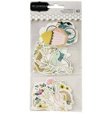 Jen Hadfield Ephemera Cardstock Die-Cuts 40/Pkg - Hey, Hello Icons