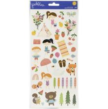 Pebbles Cardstock Stickers 6X12 83/Pkg - Sun & Fun Icons