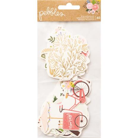 Pebbles Ephemera Cardstock Die-Cuts 40/Pkg - Lovely Moments Icons