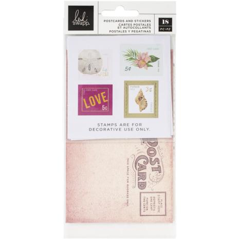 Heidi Swapp Postcards & Stamps 18/Pkg - Art Walk