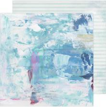 Heidi Swapp Art Walk Cardstock 12X12 - Blues