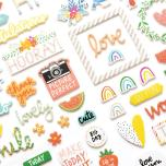 Amy Tangerine Thickers Stickers 5.5X11 77/Pkg - Picnic In The Park Phrase & Icon