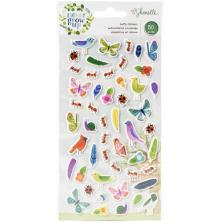 Shimelle Puffy Stickers 50/Pkg - Never Grow Up Mini Icons