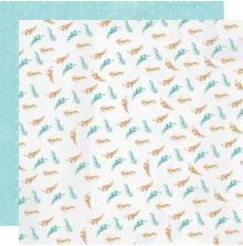Kaisercraft Little Treasures Double-Sided Cardstock 12X12 - Pitter Patter
