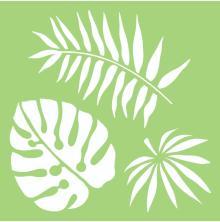 Kaisercraft Designer Template 6X6 - Tropical Leaves