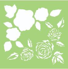 Kaisercraft Designer Template 6X6 - Full Roses